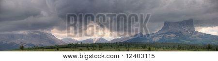 Chief Mountain Storm Panorama