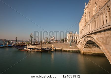 Doge's Palace And Gondola In Vencie
