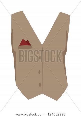 Vest waistcoat vector. Vest waistcoat illustration. Vest waistcoat isolated on white. Vest waistcoat vector icon. Vest waistcoat flat vector. Vest waistcoat silhouette