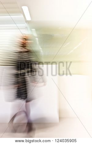 Abstract Blurred Image Showing Someone Walking With A Shake