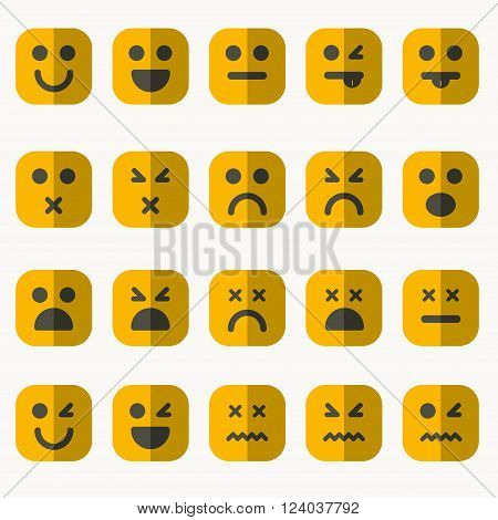 Set of different emoticons icons