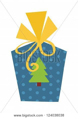Gifts box with ribbon vector. Gift box on white background. Flat gift box decoration. Surprise box. Birthday box package design. Present gift box vector birthday decoration.