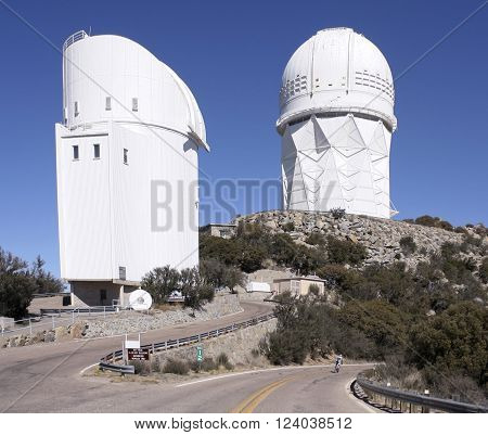 TUCSON, ARIZONA, FEBRUARY 28. Kitt Peak National Observatory on February 28, 2016, near Tucson, Arizona. The Steward Observatory and Mayall 4m Telescope at Kitt Peak National Observatory.
