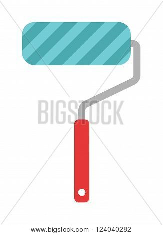 Paint roller icon flat vector illustration. Some roller icon vector isolated on white background. Paint flat style  roller icon work tool.