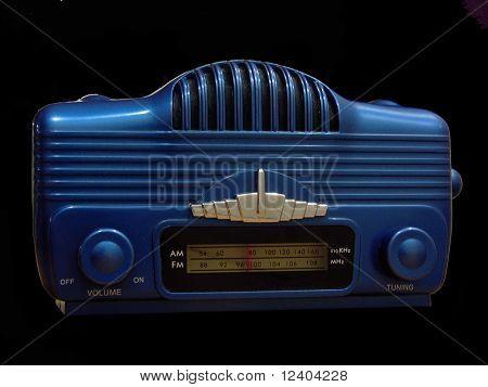 retro blue radio