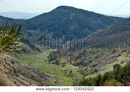 Balkan mountain valley with small river, Bulgaria