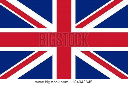 Great Britain Flag English United Kingdom Background Vector Illustration
