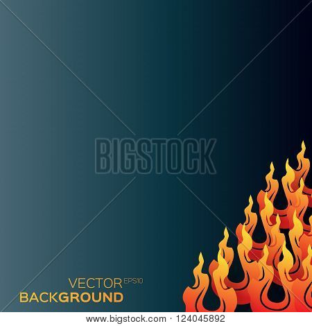 Classical Traditional Chinese paper flame shapes fiery concept design background. Vector illustration eps10.