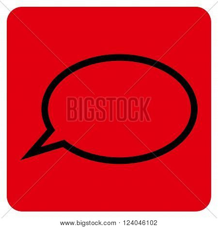 Hint Cloud vector symbol. Image style is bicolor flat hint cloud icon symbol drawn on a rounded square with intensive red and black colors.