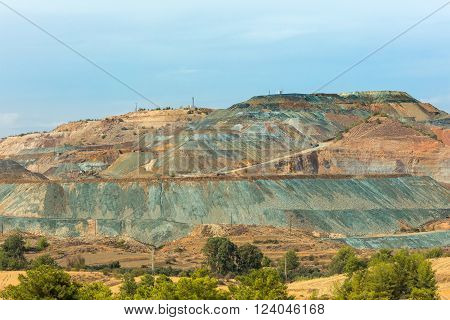 View of copper mine in Troodos mountains, Cyprus