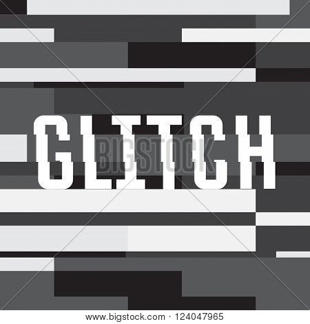 Vector glitch background with text. abstract background for your design