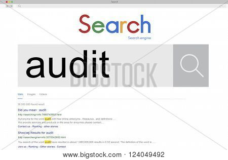 Audit Financial Investigation Check Concept