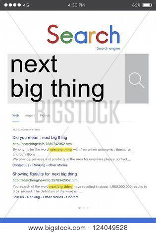 Next Big Thing Creativity Trend Update Concept