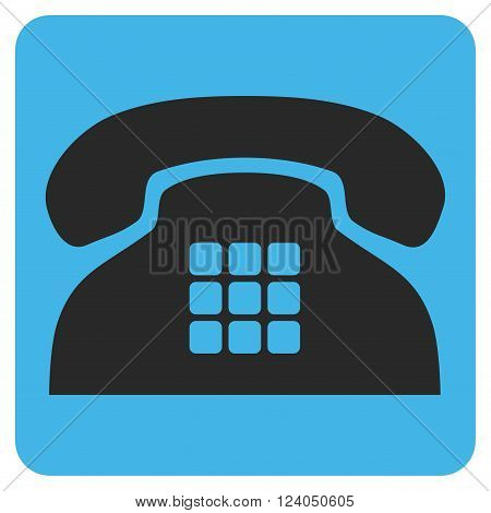 Tone Phone vector pictogram. Image style is bicolor flat tone phone pictogram symbol drawn on a rounded square with blue and gray colors.