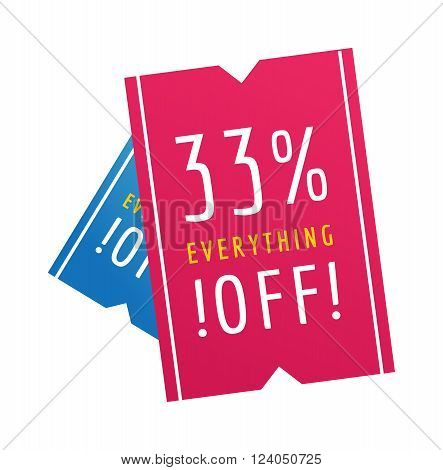Promotion price offer tag sale banner and sale banner element symbol. Sale banner discount label design flat vector illustration.  Mega-sale offer for web site