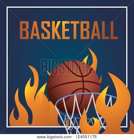 Basketball sport postcard design, vector illustration eps10 graphic