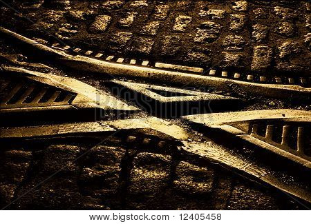 Trolley tracks crossing