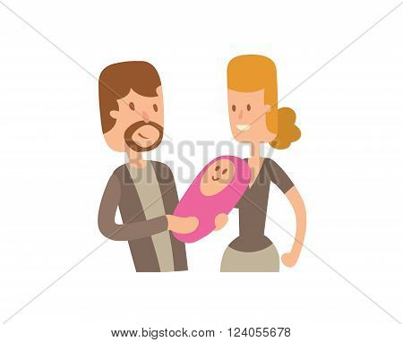 Family portrait vector illustration. Family portrait vector isolated on white background. Family portrait vector icon illustration. Family portrait vector isolated vector. Family portrait vector flat silhouette