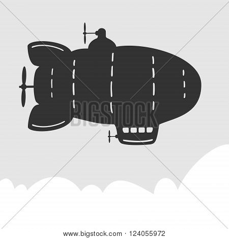 Vector Symbol Airship eps 8 file format