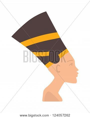 Pharaoh head vector illustration - pharaoh head isolated on white background. Pharaoh head vector icon illustration. Pharaoh head isolated vector. Pharaoh head silhouette