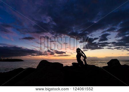 Sunset Yoga On Tenerife Beach