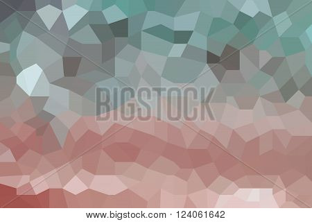 Blue and brown abstract low poly picture as background