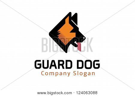 Guard Dog Creative And Symbolic Logo Design Illustration