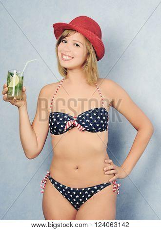 pretty girl in swimwear