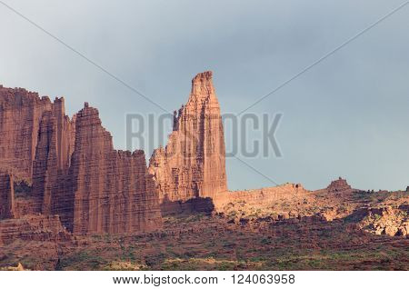 Towers in the desert area known as