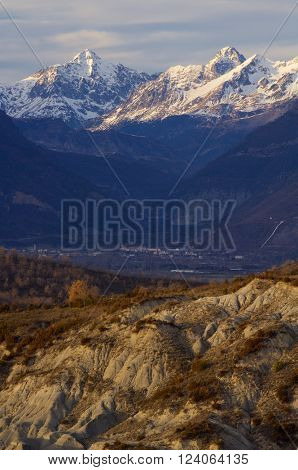 Mountains in Tena Valley, Pyrenees, Huesca, Aragon, Spain.
