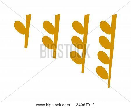 Yellow music notes vector set and silhouette of music notes graphic icons. Vector black icons music note melody symbols vector illustration.