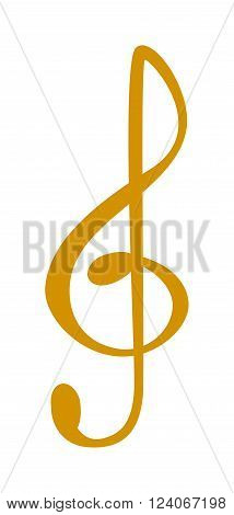 Yellow music note vector and silhouette of music notes graphic icons. Vector yellow icons music note melody symbols vector illustration.