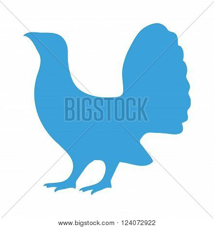 Wild pheasant animal flat vector silhouette and wild animal symbol. Animal silhouette. Wild life animals silhouette. Vector silhouette wild animal zoo vector.