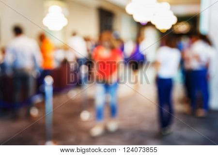 Blur People Registering