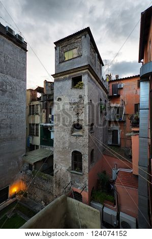 old traditional buildings in Trastevere Rome Italy