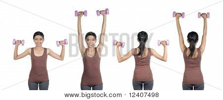 woman doing workout with weight