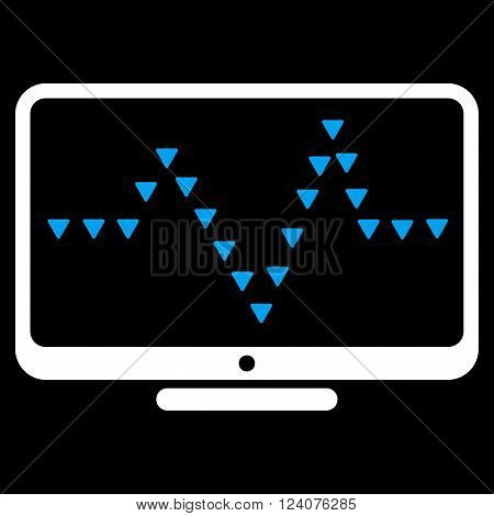 Monitor Dotted Pulse vector icon. Monitor Dotted Pulse icon symbol.