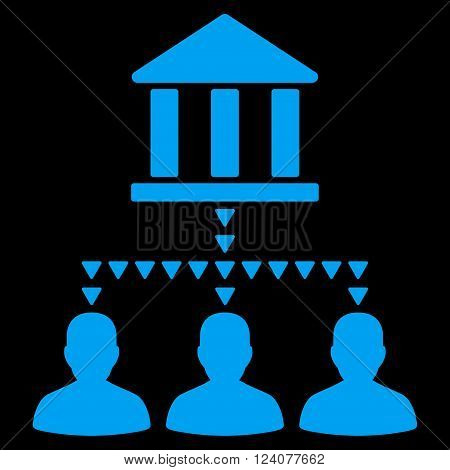Bank Building Client Links vector icon. Bank Building Client Links icon symbol. Bank Building Client Links icon image. Bank Building Client Links icon picture. Bank Building Client Links pictogram.