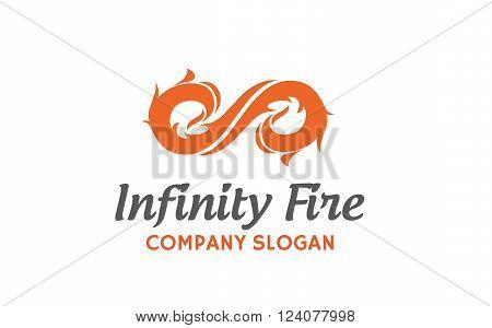 Infinity Fire Creative And Symbolic Logo Design Illustration