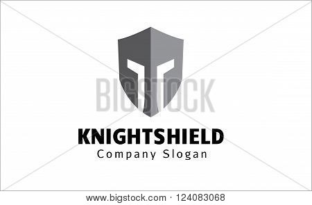 Knight Shield Creative And Symbolic Logo Design Illustration
