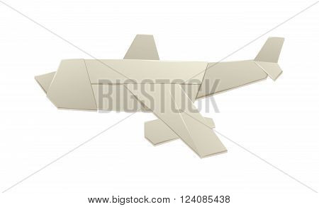 Origami airplane and origami paper plane. Origami air plane handmade creative transport. Handmade origami plane. Realistic render of origami plane travel concept vector.