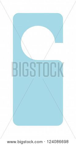 Hotel door label vector isolated on white background