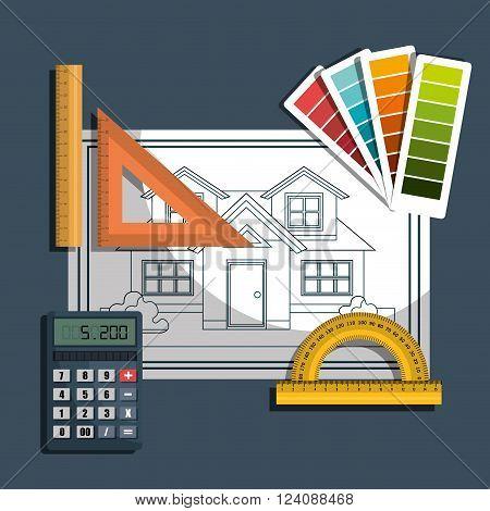 architecture project design, vector illustration eps10 graphic