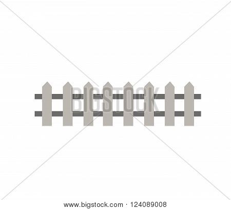 Fence garden wall and fence timber barrier design. Fence farm rural protection and fence outdoor security gate. Fence architecture outdoor garden. Wooden fence garden wall picket vector illustration.