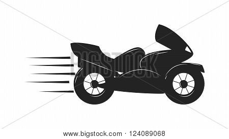 Sport bike black silhouette and sport vencle fast bike race road silhouette vector. Extreme transport bike vector. Sport bike silhouette transport power vector illustration.