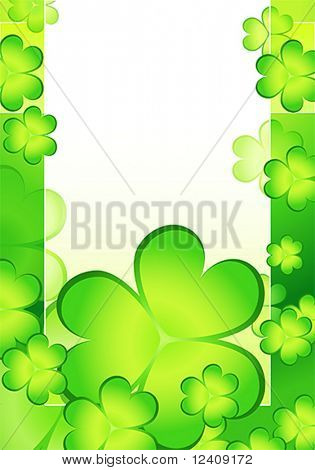 vector card with shamrock decorative background for St. Patrick's day