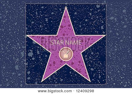 hollywood walk of fame: television star in vector