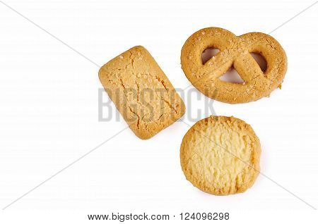 cookies biscuits  isolated on the white background