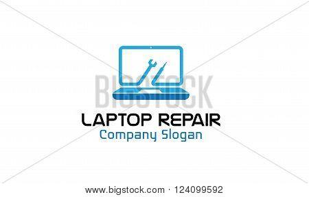 Laptop Repair Creative And Symbolic Logo Design illustration