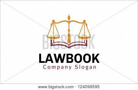 Law Book Creative And Symbolic Logo Design Illustration